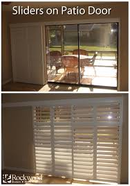 Home Depot Shutters Interior by Sliding Shutters Are Great For Sliding Glass Patio Doors Rockwood