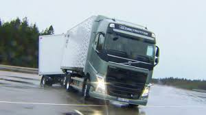 volvo freight trucks volvo trucks boosts safety on slippery winter roads youtube