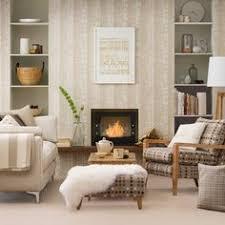 Rose Gold Living Room Living Room Decorating Ideas Housetohome - Wallpaper living room ideas for decorating