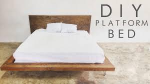 diy modern platform bed modern builds ep 47 youtube