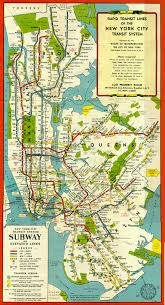Map New York City by System 1948 Gif
