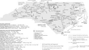 Raleigh Map Map Civil War Campaigns And Battles Ncpedia