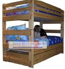 Wood Loft Bed Plans by 19 Best Bunk Beds Images On Pinterest 3 4 Beds Bunk Bed Plans
