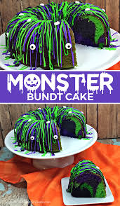 Monster Halloween List by Halloween Monster Bundt Cake Kitchen Fun With My 3 Sons