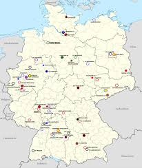 Map Germany by Map Of The Teams In Germany U0027s Top Three Domestic Leagues Oc Soccer