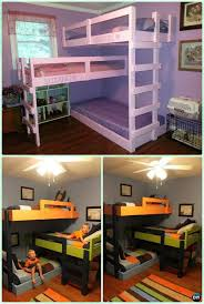 Plans For Building Bunk Beds by Best 25 Triple Bunk Ideas On Pinterest Triple Bunk Beds 3 Bunk