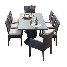 tk classics napa 9 piece wicker dining set with cushions modern