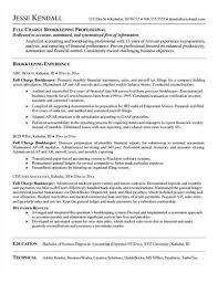 Sample Bookkeeping Resume by Full Charge Bookkeeper U003ca Href U003d