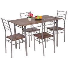 mainstays 5 piece glass top metal dining set walmart com