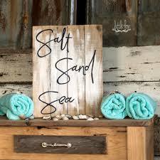 salt sand u0026 sea sign beach decor beach sign ocean