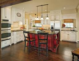 kitchen island white distressed cabinets antique cherry wood
