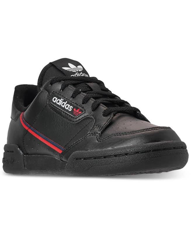 Kids Adidas Girls CONTINENTAL Low Top Lace Up Fashion Sneaker, Black,