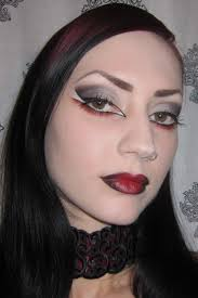 Halloween Vampire Look Glitter Is My Smokey Black Gray And Red Gothic Vampire