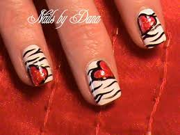 heart nails free design valentine u0027s heart nails nail art