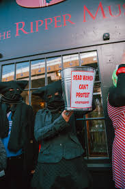 no selfies with dead women a jack the ripper protest on halloween