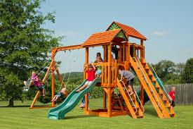 Cedar Playsets Amish Built Playsets The Barn Raiser