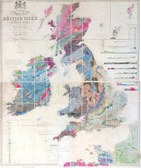 geological map of the british isles and part of france showing