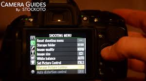 how to set picture control on a nikon d5100 d5200 d5300 youtube