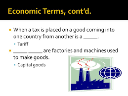 Create an image that best describes one of the economic terms we defined today in YouTube