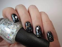 blue tape and nail tips opi gwen stefani holiday 2014 nail effects