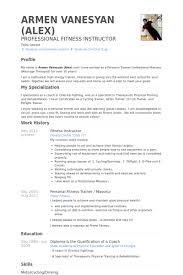 Sample Personal Resume by Fitness Instructor Resume Samples Visualcv Resume Samples Database