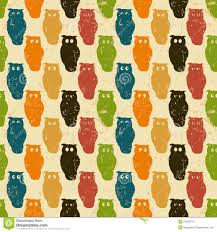 halloween cute background halloween background retro pattern with owls stock images