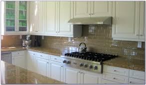 Cream Subway Tile Backsplash by Cream Beveled Subway Tile Backsplash Tiles Home Design Ideas