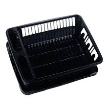 Plastic Dish Drying Rack United Solutions Sk0031 Two Piece Dish Rack And Drain Board Set In