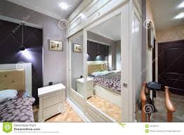 built in white wardrobe with mirrored doors in bedroom royalty royalty free stock photo download built in