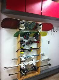 ski snowboard rack diy would work for brooms and gardening ski snowboard rack diy would work for brooms and gardening equipment too