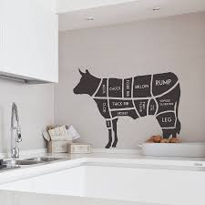 Kitchen Wall Pictures Butcher U0027s Cow Wall Sticker Cow Wall Sticker And Walls