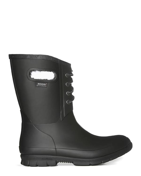 Bogs Amanda Plush Lace Black Medium 8 72103-001-M-