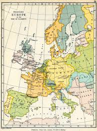 Western Europe Political Map by History Map Archive 1501 1600