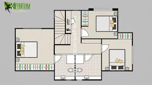 2d floor plan with furuniture landscaping desing by yantram studio