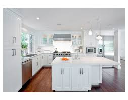kitchen design and decoration using white carrera marble kitchen