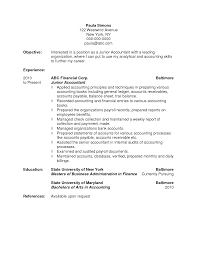 Example Objectives For Resumes by 100 Sample Accounting Student Resume 100 Accounting Student