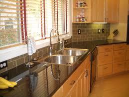 bathroom excellent glass subway tile grey color backsplash with