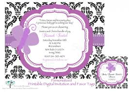 top 16 purple butterfly baby shower invitations for you