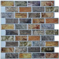 marble stick on backsplash tiles for kitchen mosaic tile recycled