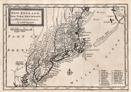 Map Of The New England Colonies by 1700 U0027s Pennsylvania Maps