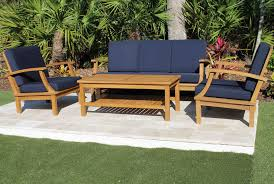 Discount Teak Furniture Deep Seat Teak Set U2013 5 Seat Including Full Cushions Oceanic Teak