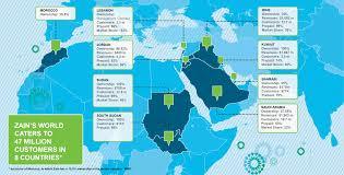 Jordan Country Map Facts U0026 Figures Zain