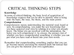 Powerpoint presentation on perception and critical thinking     Introduction to Critical Thinking