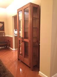 Oak Curio Cabinet Curio Cabinet 680529 Modern Corner Curio Cabinet Cherry Finish