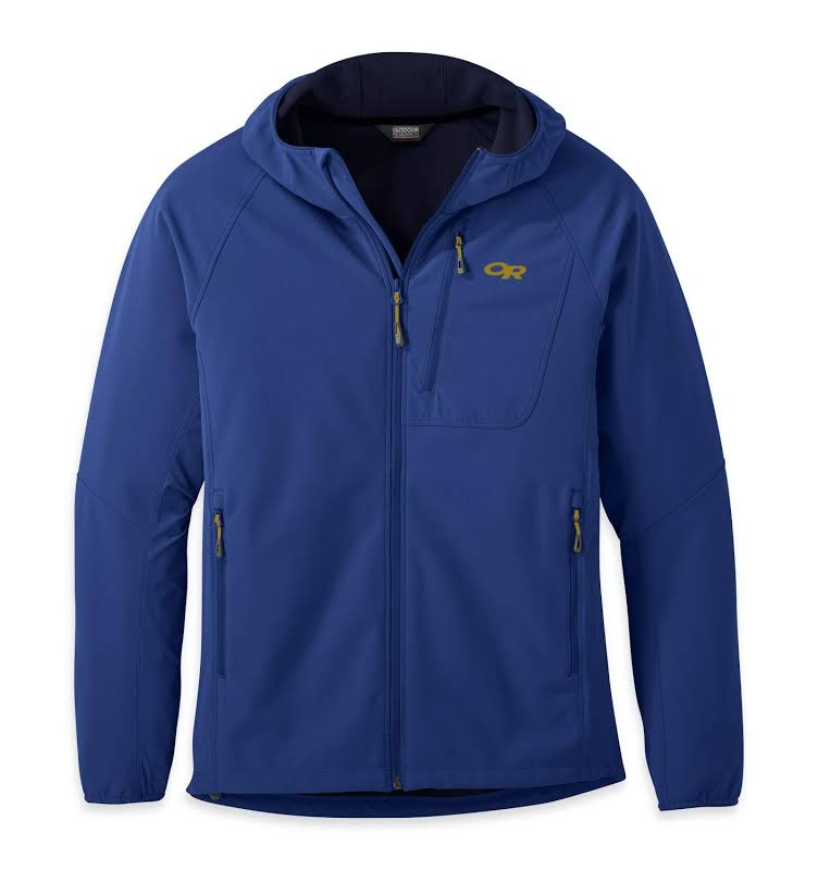 Outdoor Research Ferrosi Grid Hooded Jacket-Large Sapphire