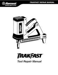 ramset trakfast tf1100 repair manual