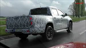 mercedes x class pickup prototype chased in germany