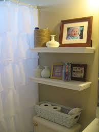 Creative Bathroom Decorating Ideas Bathroom Wood Shelf Ideas White Round Drop In Sink Brown Ceramic
