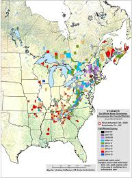 Map Of Wisconsin And Illinois by White Nose Syndrome Map White Nose Syndrome