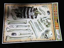 Halloween Skeleton Props by Creepy Red Eye Peeping Skull Wood Floor Grabber Cling Decoration